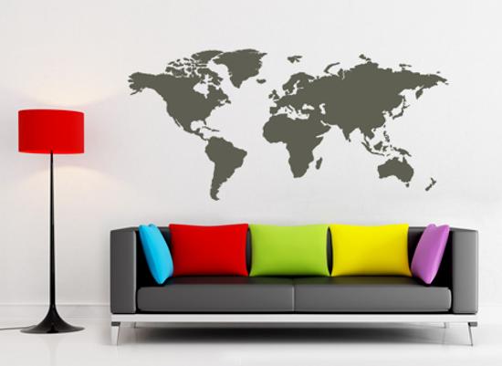 HomeRefreshing - Adesivi murali Mappa del mondo grande