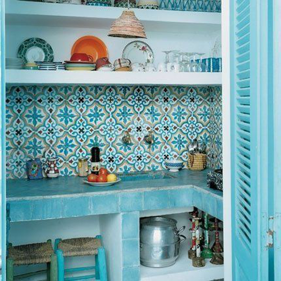 HomeRefreshing - Cucina azzurro mare