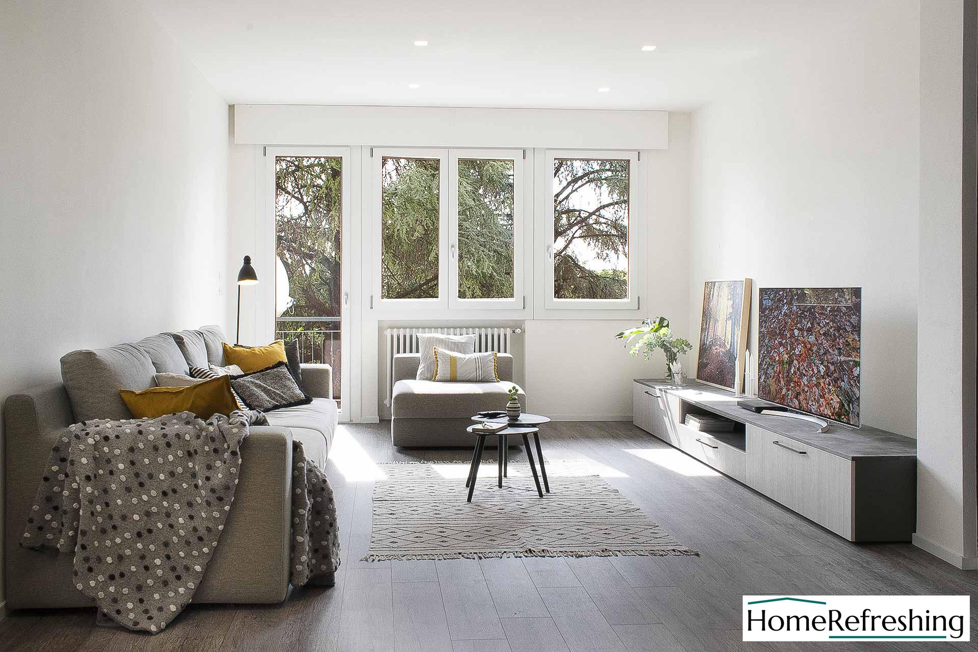 Home Staging di un appartamento arredato